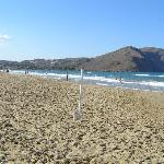 la plage devant l'hotel