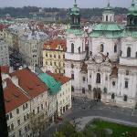 Hotel Cerna Liska from Clock Tower