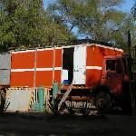 Kitchen in lorry