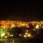 visuale notturna dal balcone della camera