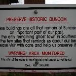 Buncom Ghost Town, Oregon - sign