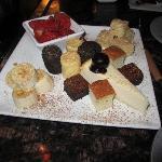 Fresh strawberries, bananas, cheesecake, Rice Krispies Treats®, marshmallows, pound cake and bro