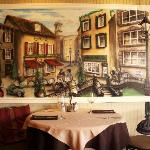 Painting by owner of Bistro