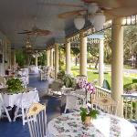 What an amazing front porch! The Stanford Inn also serves tea.