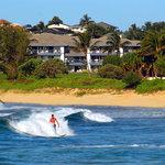 Surfing in front of Poipu Kai Resort
