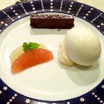 Hokkaido famous milk ice cream as dessert