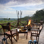Bar overlooking the Great Rift Valley and Lake Manyara