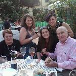 My family and I on the Terrace with wine and appetizers!