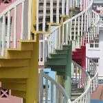 Bugis Backpackers - Colorful Spiral Staircase