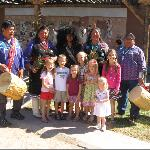 Kids with Buffalo Dancers