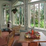 The sunroom....great for morning coffee