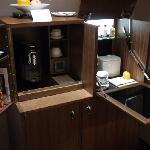 coffee machine and mini bar
