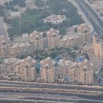 Hotelkomplex von 124 . Etage des Burj Khalifa gesehen