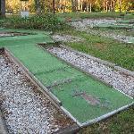 mini golf course in shambles