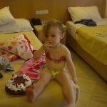 reçu un gateaux d'anniversaire pour la petite qui a 2 ans