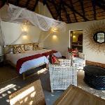 A bedroom at the newly refurbished Mfuwe Lodge, South Luangwa, Zambia