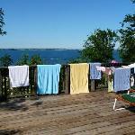 Die Handtücher haben sogar Förderblick