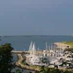 Blick auf den Hafen von Langballigau