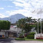 El Boqueron volcano (dormant) behind hotel