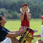 Familie beim Golfen