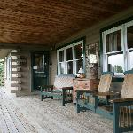 A front porch made for sitting
