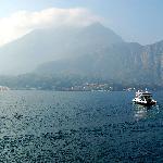 Car ferry leaving Bellagio