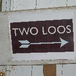 Sign for toilets