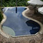 Swimmingpool at hilltop hotel on Phuket
