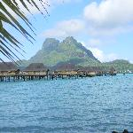 Bora Bora Pearl and view of Mt Otemanu