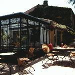 la terrasse vous accueille pour le breackfast en été