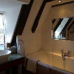 The modern en suite bathroom