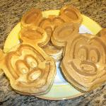 Mickey Mouse waffles from the breakfast area
