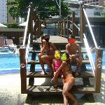 Ponte sobre a piscina do Hotel