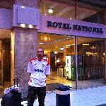 Me outside the hotel
