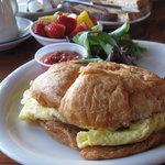 Breakfast sandwhich.