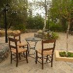 Relaxing in the traditional taverna outside which can be used 10 motnhs a year-Cretan weather, y