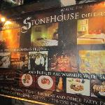 Stone House advertising board