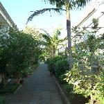 Eingang - links Melba, rechts Monte Verde