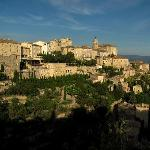 Village of Gordes (the location of the restaurant as seen from hotel Les Mas des Romarins