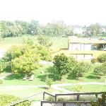 Vista de los jardines del hotel spa