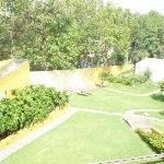 Vista de los jardines del hotel-spa