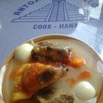 Queso Relleno. Coox Hanal. Restaurante de comida yucateca en México D.F.