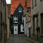 The cobblestone street leading to Number 11.