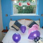 The decorated room!