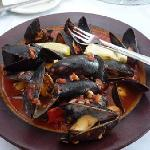 Chef Randy Mussels in Roasted Garlic Tomato Sauce