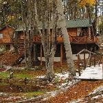 cabaña con lago