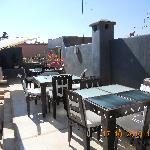 the terrace where breakfast is served