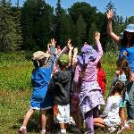 Kids summer programs explore the nature center.