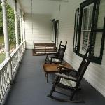 One of the two private porches