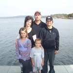The Kettells family on the new boat dock
